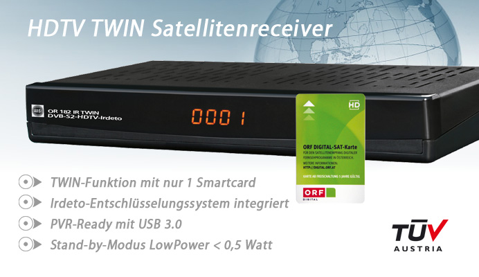 WISI OR182 IR TWIN HDTV Satreceiver